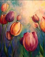 **COFFEE & CANVAS** Colorful Tulips ($25)