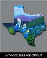 "Texas Bluebonnets - 18"" MDF Cutout"