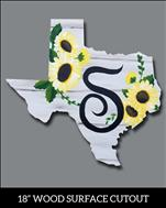 Texas Sunflowers Monogram Cutout / Many Options