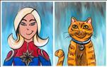 Captain Marvel & Goose Set (All Ages)