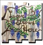 **Wood Cut Out** Wisteria Love Grows