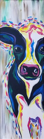NEW! - Peekaboo Cow - LONG CANVAS