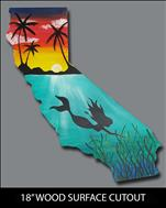 WOODEN CUTOUT Cali Mermaid (21+ ONLY)