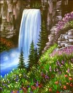 Horsetail Falls Manic Monday 3hr Painting only $35