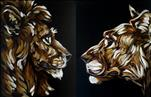 Lion and Lioness in the Night - Set or Pick One!