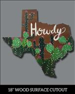 *Texas Cutout* Howdy Cactus- Limited Seating