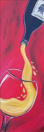 **10x30 LONG CANVAS** Chardonnay Pour