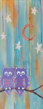 *NEW* - Love Owls at Night Real Wood Board