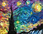 **KIDS AND KANVAS** Rainbow Starry Night