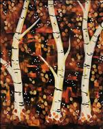 Autumn Birch Wonderland