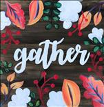 Gather Floral Real Wood Board