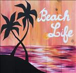 NEW! - Beach Life - PINE WOOD BOARD