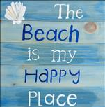 NEW! The Beach is my Happy Place Real Wood Board
