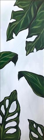 10X30 Canvas Summer Leaves