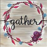 *WOOD BOARD* Autumn Gather Wreath