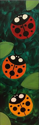 Lucky Ladybugs 10x30 canvas, Teens & Adults