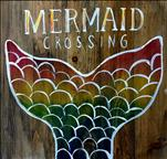 Mermaid Crossing on a Real Wood Board!