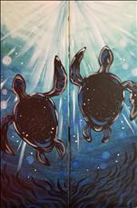 NEW~In the Deep Turtles~ PAINT RIGHT OR LEFT 10x30
