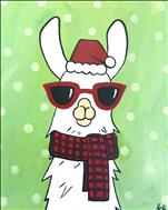 Christmas Party Llama 16X20 NEW! 8+