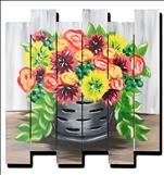 **WOOD CUT OUT** Fall Floral Bucket