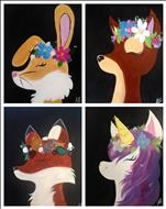 Flower Crown Animals - Set