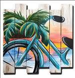 NEW ART PALLET BOARD~ Beach Vibes and Bike Rides
