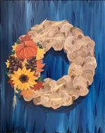*WINEY WEDNESDAY* Burlap Fall Wreath