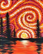 'Black Light'       Van Gogh Forest Sunset