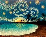 *NEW PAINTING* Starry Night Beach (ages 18+)
