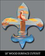 "New Art & Surface! ""Pelican Fleur de Lis Cutout"""