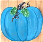 Real Wood! Bright Teal Pumpkin