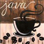 Coffee and Canvas, *Real Wood Board* Java Time