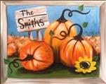 A Family Pumpkin Patch - REAL PINE WOOD BOARD!
