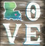 Louisiana Love Real Wood Board