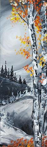 10X30 Canvas Aspen's in the Mountains