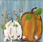 Bountiful Pumpkin Harvest .. 12 x 12 Square Canvas