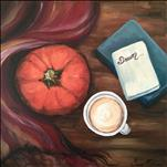 *12x12 Canvas* Pumpkin, Lattes, and Dreams