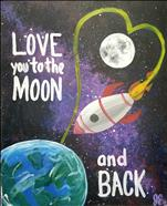 To the Moon and Back Solo Version! Family Paint