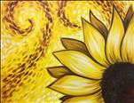 Yellow Van Gogh Sunflower