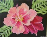 NEW ART Coffee and Canvas Save $5 Pink Hibiscus