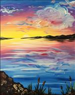 New Art! Yellow Cattail Sunset!