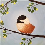 Sweet Chickadee 12x12 Canvas (Adults 18+)
