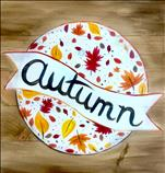Autumn Leaves Real Wood Board