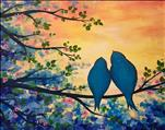 Two Bluebirds in a Flowering Tree AGE 13+