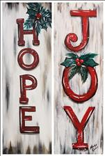Christmas Signs *Wood or canvas* PICK A SIDE