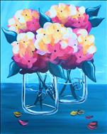 Bright Fall Hydrangeas 16X20 NEW ART! 18+
