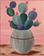 Studio B (All Ages, No Alcohol) Pastel Cactus!