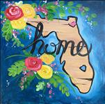Florida Home- Adorable 12x12 Canvas!
