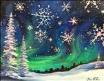 Snowflakes Falling - Sip and Paint