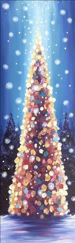 Ethereal Christmas Tree on Canvas or Wood